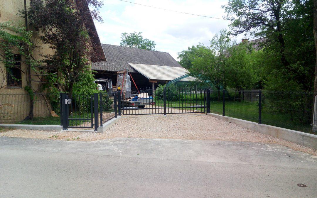 Montaža dvokrilnih vrat in OP za podjetje Palisada d.o.o.